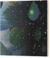 Planet Water  Wood Print