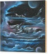 Planetary Falls Wood Print