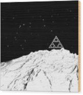Planetary Mountain Wood Print