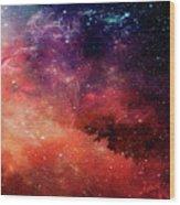 Planetary Soul Violet Wood Print