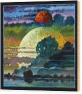 Planets Image One Wood Print