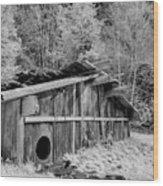 Plank House Wood Print