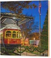 Plano Trolley Car Wood Print