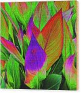Plant Details Wood Print
