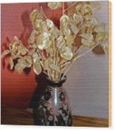 Plant Life In Vase Wood Print
