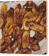 Plantains For The Rehearsal Wood Print