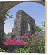 Plantation Arch Wood Print