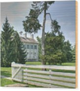 Plantation Home Wood Print