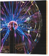 Plasma Sphere Wood Print