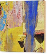 Plaster Abstract 12 By Michael Fitzpatrick Wood Print