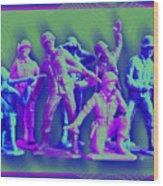 Plastic Army Man Battalion Pop Wood Print