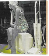 Plasticgirl In A Show-window Bruxelles - Bruxelles Wood Print by Yury Bashkin