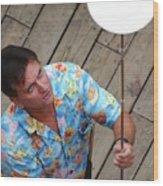 Plate Juggler 6689 Wood Print