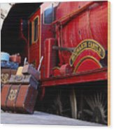 Platform Nine And Three Quarters Wood Print