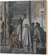 Plato's Symposium Wood Print
