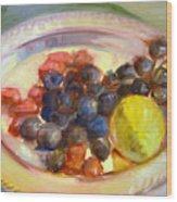 Platter Of Fruit Wood Print
