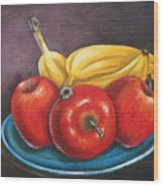 Platter Of Fruit Wood Print