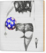Play Ball Or Else  ... Wood Print