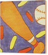 Play Ball Wood Print