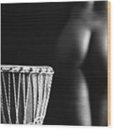 Play The Drum, Play The Woman Wood Print