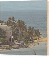 Playa Azul I Wood Print