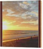 Playa Hermosa Puntarenas Costa Rica - Sunset A One Detail Two Vertical Poster Greeting Card Wood Print