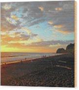 Playa Hermosa Puntarenas Costa Rica - Sunset A One Wood Print