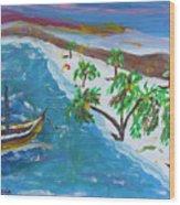 Playa Secreta II Wood Print