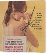 Playboy Magazine Poster Signed Wood Print