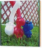Playful Balloon Monkeys Wood Print