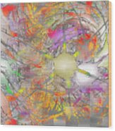 Playful Colors Of Energy Wood Print
