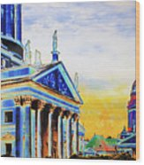 Playhouse And French Dome Wood Print