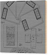 Playing Cards Patent 1889 Wood Print