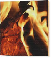 Playing With Fire Wood Print