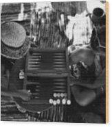 playng backgammon Sinai Egypt Wood Print