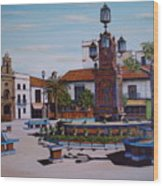 Plaza Alta Wood Print
