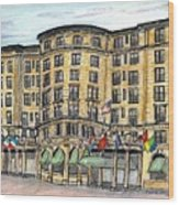 Plaza- Boston Wood Print