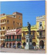 Plaza De Los Coches Wood Print