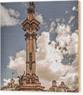 Plaza Grande Wood Print