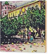 Plaza In Murcia Wood Print