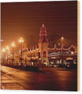 Plaza Lights 47th Street 3 Wood Print