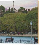 Pleasant Afternoon By Lake Pamvotis In Ioannina Wood Print