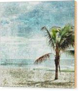 Pleasant Blue - Jersey Shore Wood Print
