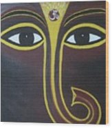 Pleasant Ganesha Wood Print