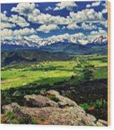 Pleasant Valley Colorado Wood Print