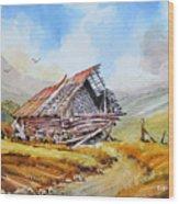 Pleasent Valley Barn Wood Print
