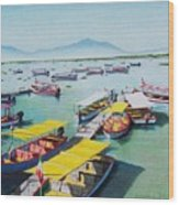 Pleasure Boats On Lake Chapala Wood Print