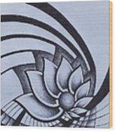 Pleiadean Daisy Wood Print