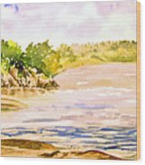 Plein Air At Pine Falls Manitoba Wood Print