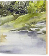 Plein Air At The Pond At Nutimik  Wood Print